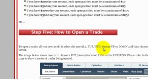 Binary Options Trading Strategy: Graphic Trend Analysis Using 5 Minute Candlestick Charts