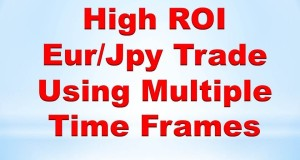 Forex Price Action Trading: High ROI EurJpy Trade Using Multiple Time Frames